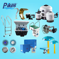 swimming pool equipment set accessory with pool filter pump fittings