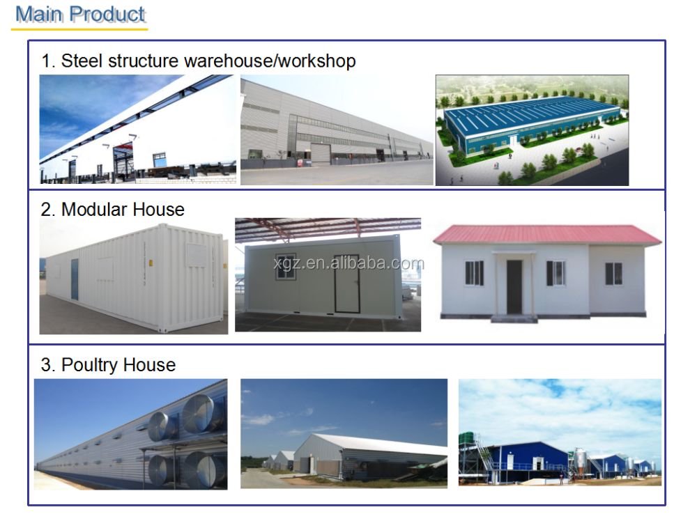 Steel Structure Workshop Factory Warehouse/Steel Frame/Steel Structure