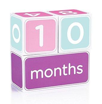 baby age blocks week month year grade milestone wooden calendar blocks