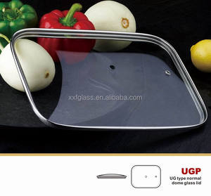 frying pan square tempered glass lid