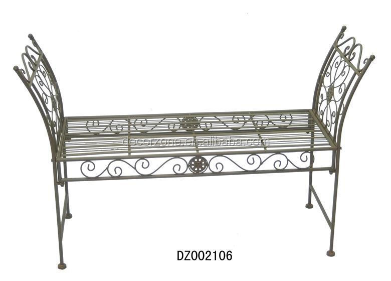 Metal Backless Outdoor Bench Seat