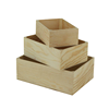 Popular customized color wood vegetable crates