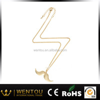 South American Women's Party Beard Gold Necklaces