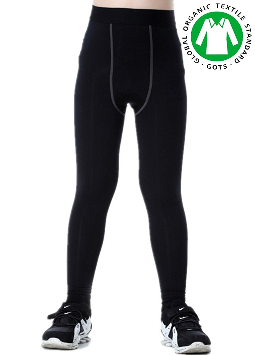 9a83347987 Get Quotations · Boys Compression Pants Base Layers Soccer Hockey Tights  Athletic Leggings Thermal for Kids