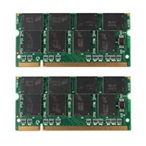 laptop ram - SODIAL(R) 2GB 2X1GB PC2700 DDR-333 Non-ECC 200-Pin CL2.5 Laptop (SODIMM) Memory (RAM) New