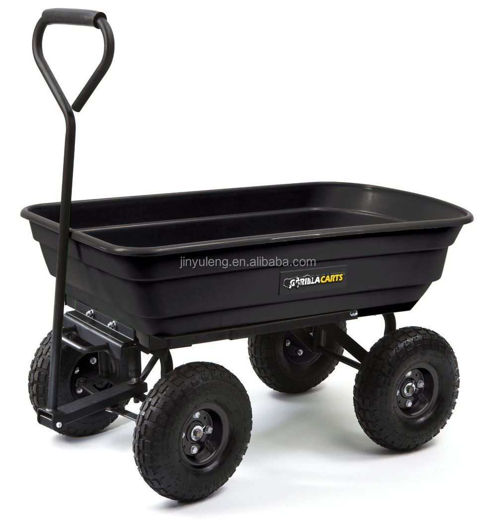 600 lbs Steel Poly Lawn Garden Yard Dump Utility Wheelbarrow Wagon cart
