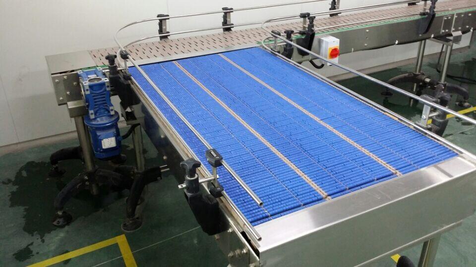LBP821 سلسلة من البلاستيك الناقل ، الأسطوانة سلسلة الناقل أعلى الجدول لتراكم ، ناقل الصلصات