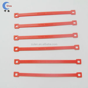 Custom Straight Red silicon rubber elastic bands with good quality