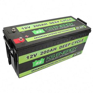 Deep circle lifepo4 12v 200ah lithium ion battery packs with BMS