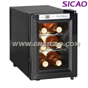 Table Top Mini Wine Chiller Display Cooler, Stylish Glass Door Small  Refrigerator Freezer Electric Wine