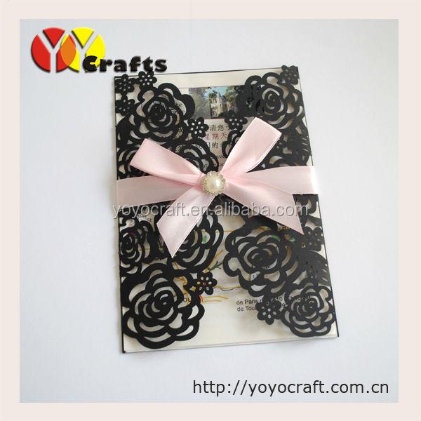 Rose Design Invitation Card Handmade Wedding Invitation Cards