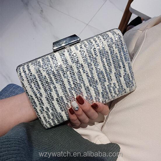 New shiny sequins dress bag dinner party ladies hand bag xiekua package fashion handbags evening banquet bag