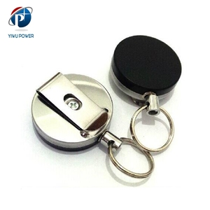 YP-SA-0071 Telescopic Retractable Stainless Steel Badge Reel Stretchy Button Easy Push Buckle Series