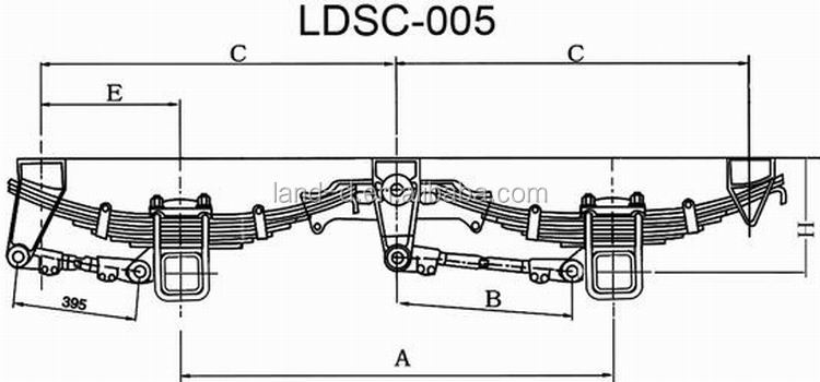 Top Quality Leaf Springs Heavy Duty Trailer Suspensions And Axles