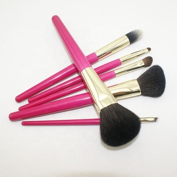 Private Label 6 Stück Holzgriff Make-up Pinsel Set