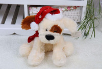 2017 New design christmas electric dog/ plush little dog can singing songs/custom plush toy with good quality
