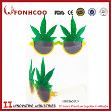 FONHCOO New China Manufacture Wholesale Kids Party Sunglasses With Leaf Decor