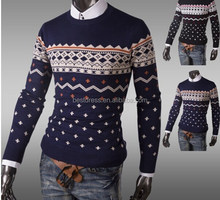 Wholesale China supperliers fashion pullover cape sweater Men's Round Neck striped pullover fashion men sweaters M-2XL