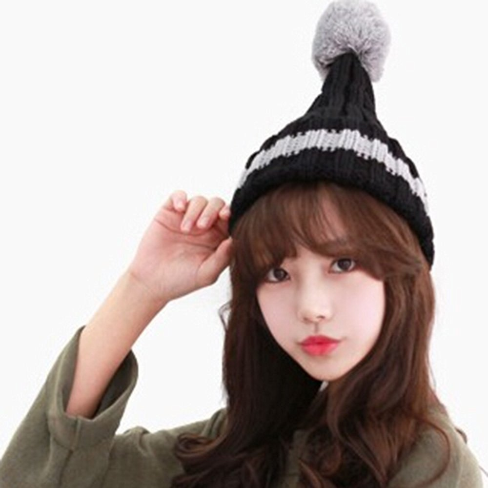 59684ee141c Get Quotations · XDOBO® Women s Ski Hats Fashion Cute Girls Women s Winter  Warm Baggy Knitted Wool Cap Snow