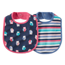 Hot selling feeding bib supplier Plastic Baby Bibs with Snaps cotton bib supplier