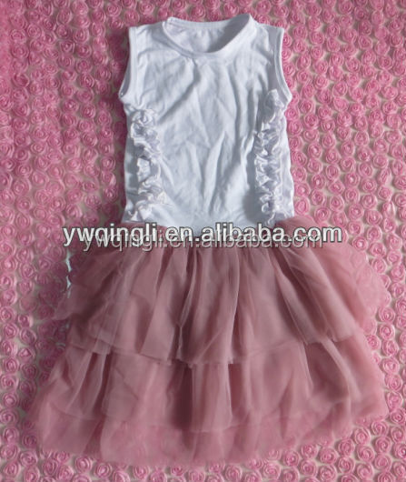 Boutique baby girls' dress fashion sleveless veil dress