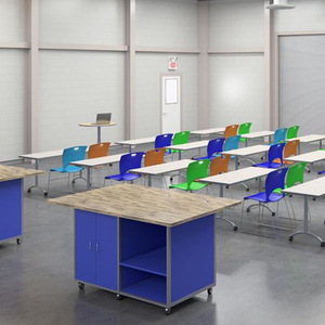 school student study desks and chairs