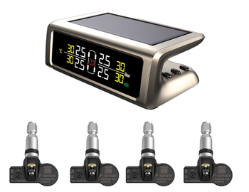 2019 bandenspanningscontrolesysteem TPMS voor 4 whlees business auto solar power auto tpms