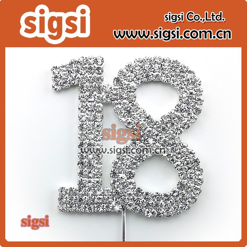 The 18th birthday decorative Rhinestone Cake Topper