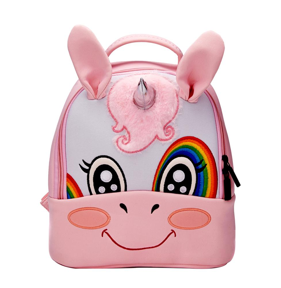 high quality neoprene unicorn backpack kids <strong>school</strong> 3d unicorn bag student <strong>school</strong> bag