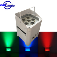 battery powered wireless dmx led lights 6*18w RGBWA UV 6in1 wireless control led uplight