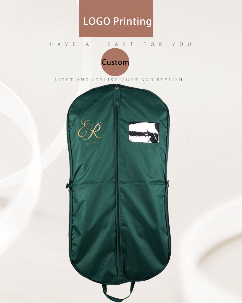 Logotipo personalizado Popular Barato PEVA Cobertura de Pano Tampa Terno Vestuário