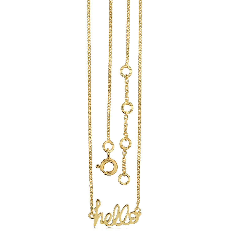 Stellar Designs Yellow Gold Overlay Plain Fashionable Brass Necklace