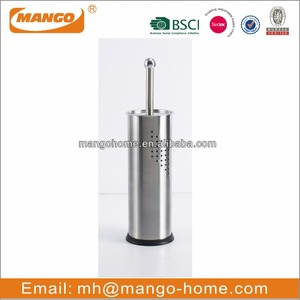 Novelty Decorative Stainless Steel Toilet Brush Holder