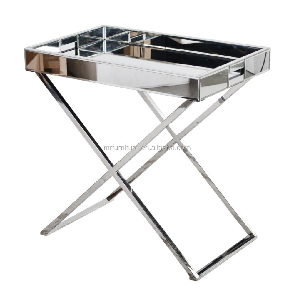 Exceptionnel Service Tray Side Table In Stainless Steel Frame And Mirror   Buy Mirrored  Tray Side Table,Stainless Steel Tray Table,Service Side Table Product On  Alibaba. ...