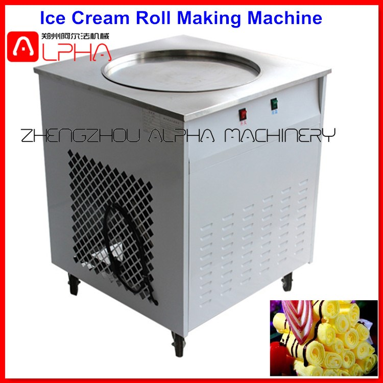 Automatic Soft Ice Cream Vending Machine Fried Ice Cream