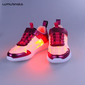 Glowing Flashing color change running shoes luminous kids shoes led light up kids shoes