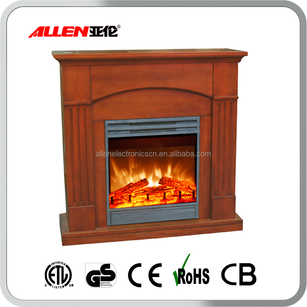 wooden 220v electric fireplace inserts with mantel