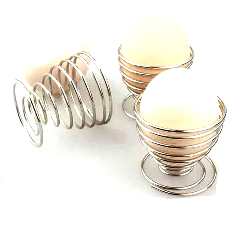 Custom nickel plated spring steel cup shape decorate egg coil springs