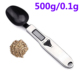 300g/0.1g 500g/0.1g Portable LCD Digital Kitchen Scale Measuring Spoon Food Scale