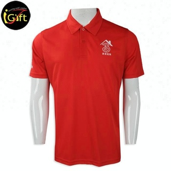 iGift Sport Custom China Plain Golf Breathable Red Polo t shirt