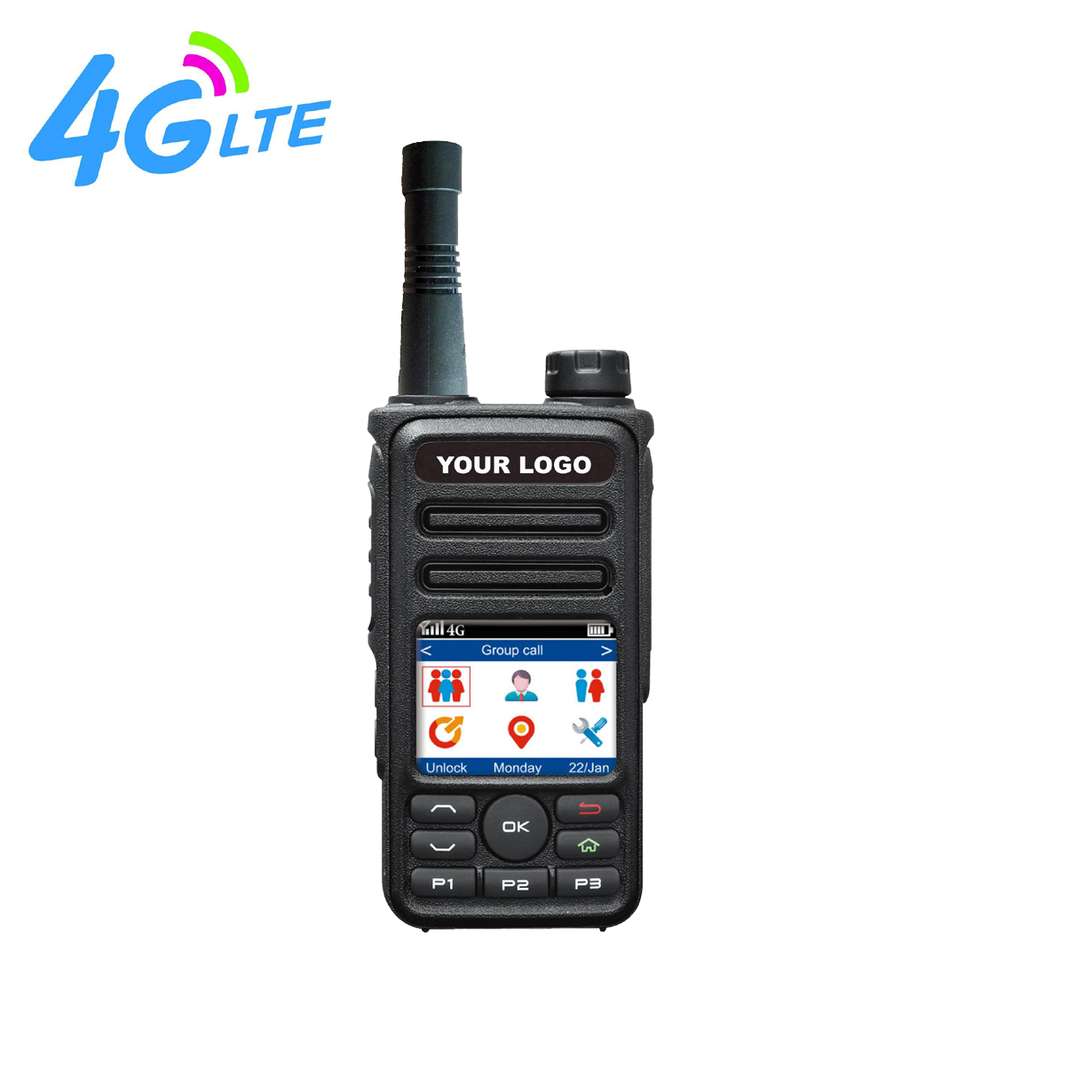 GSM77 4G 3G gsm walkie talkie GPS wifi bluetooth SOS APK Poc