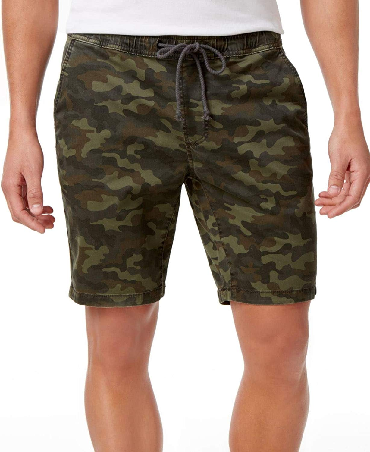 American Rag Mens Classic-Fit Stretch Camo Twill Drawstring Shorts