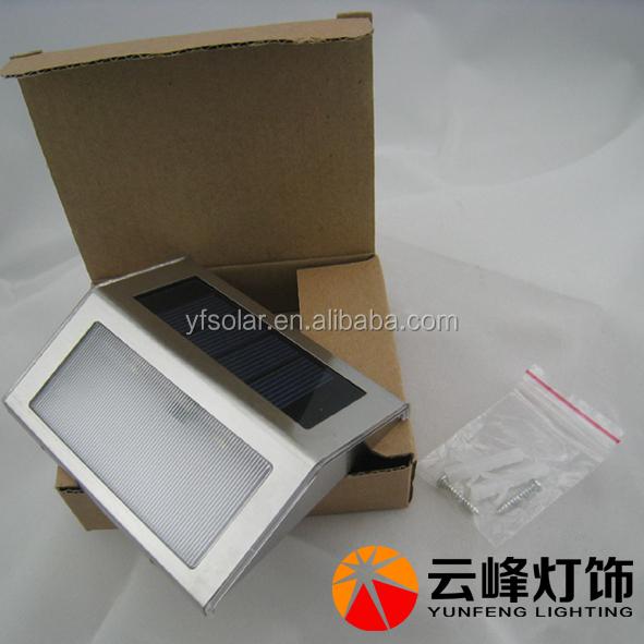 Wholesale high lumen outdoor LED stainless steel solar step light ...