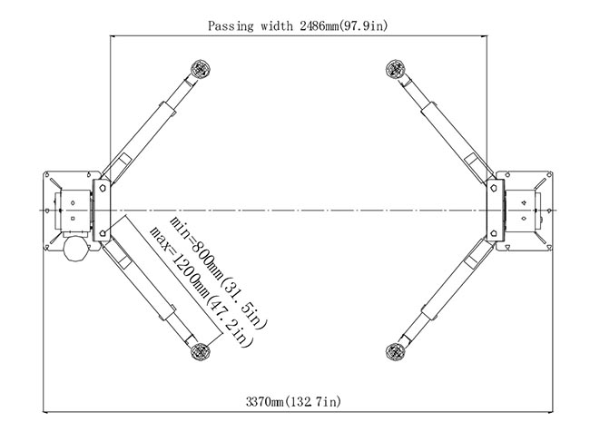 tlt235sba 3 5t electric car hoist manufacturers   car lift china for work shop