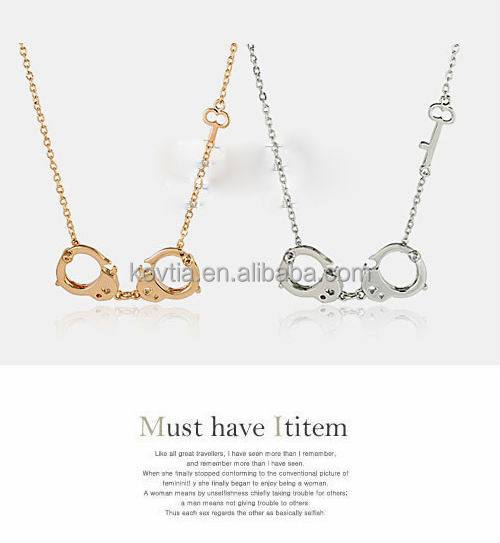 Personalized handcuff pendant necklace sideways key shape necklace personalized handcuff pendant necklace sideways key shape necklace aloadofball Image collections