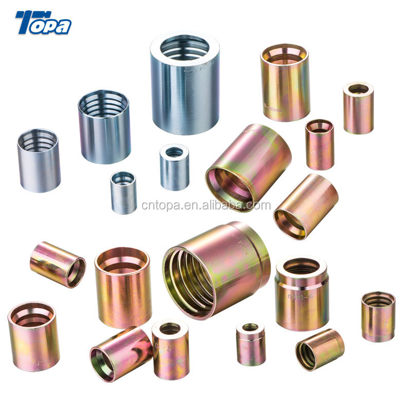 Carbon steel of hydraulic 4SH hose fittings ferrule