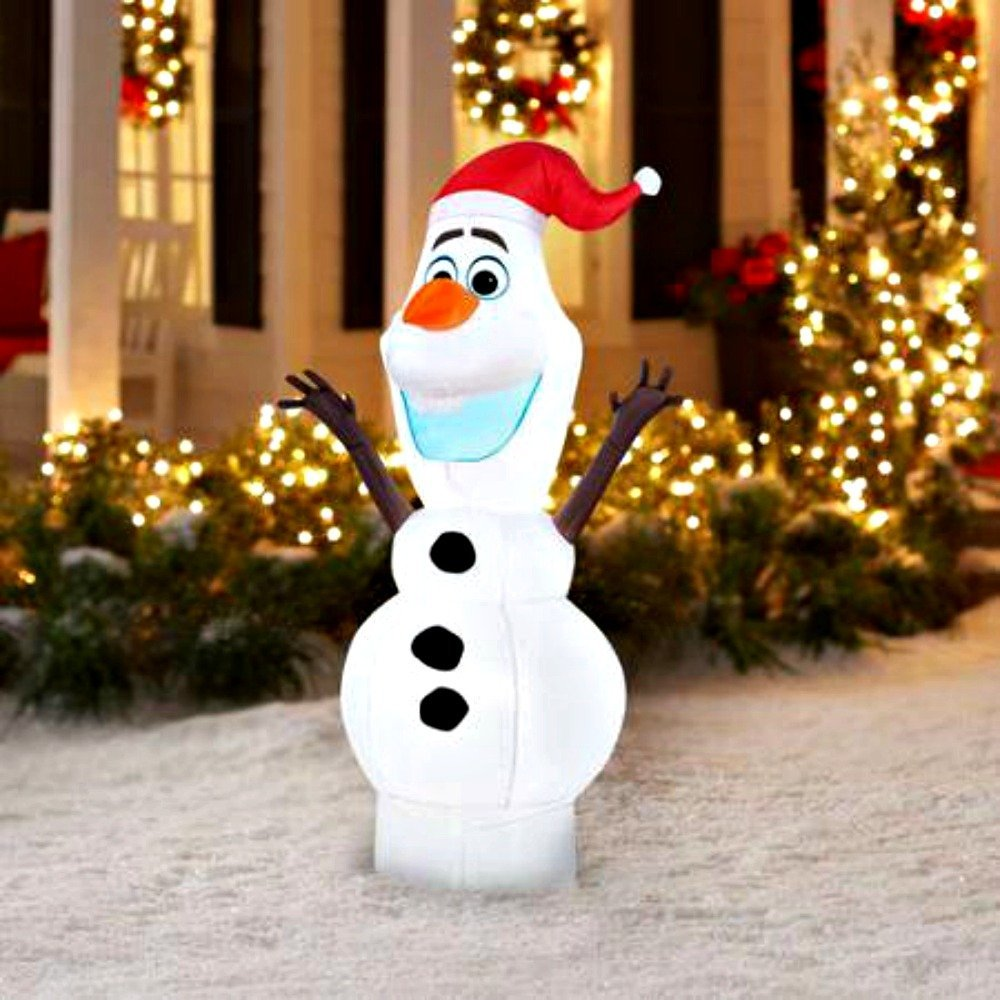 Buy 5 Airblown Inflatable Olaf with Santa Hat Christmas in Cheap ...