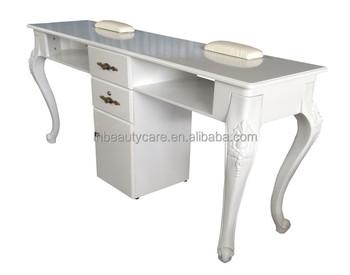 Lne double table À ongles manucure bureau pour personnes