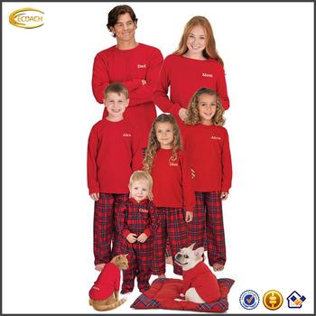 taglia 40 c2ebb dbfba Ecoach All'ingrosso Di Modo Cotone Rosso Plaid Corrispondenza Famiglia  Pigiama Di Natale Pigiama Famiglia - Buy Pigiami Di Natale  Famiglia,Famiglia ...
