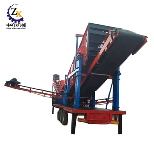 China electric truck mounted mobile stone crusher